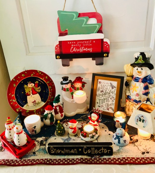 Christmas Wonderland with Decocrated snowmen