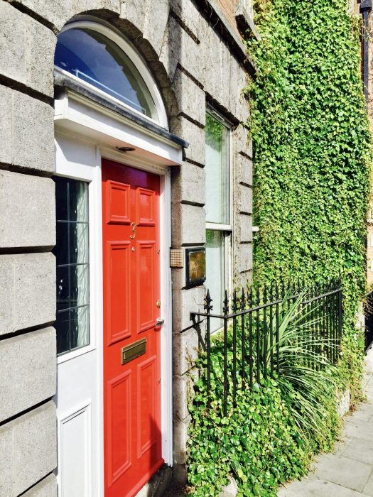 Non Touristy Places to Visit in Dublin red door