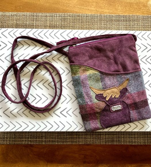 WeeBox Subscription Box from Scotland highland cow purse