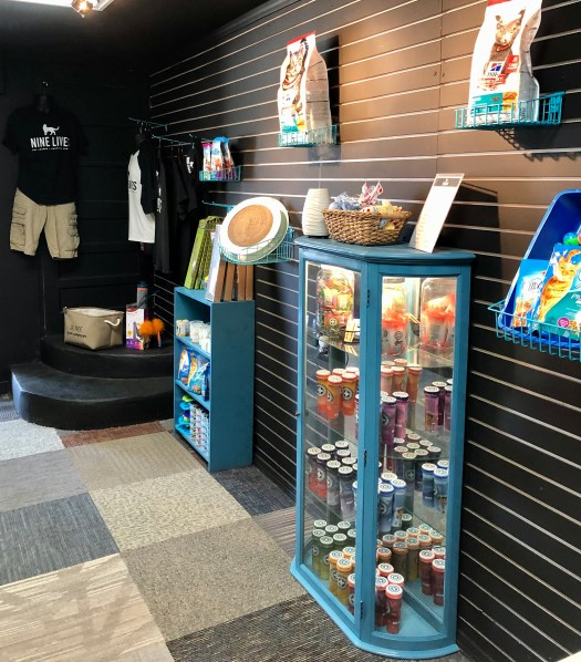 Nine Lives Cat Lounge and Adoption Center store