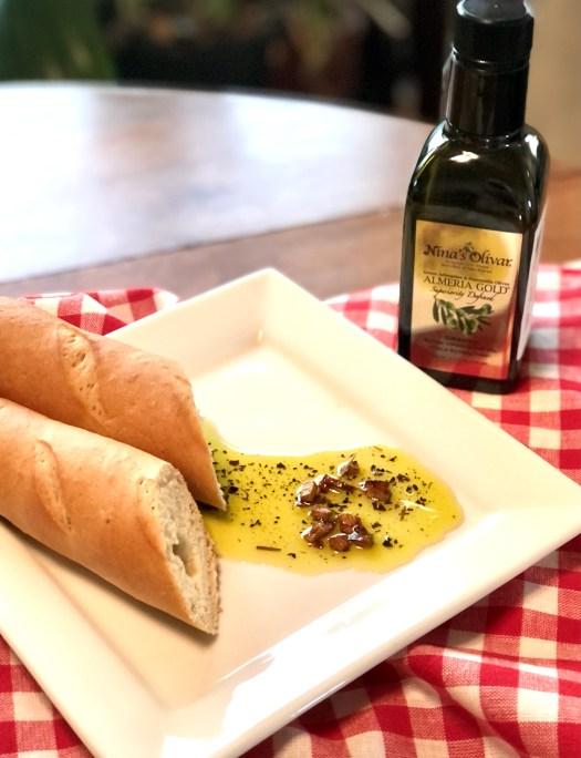 Nina's Olivar Almeria Gold Olive Oil dipping oil