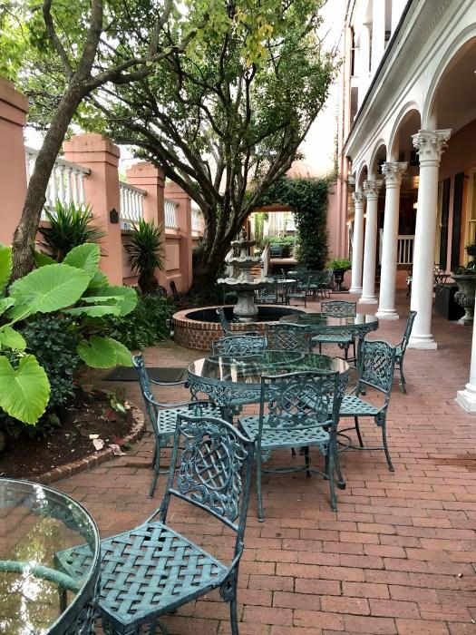 Meeting Street Inn courtyard street view