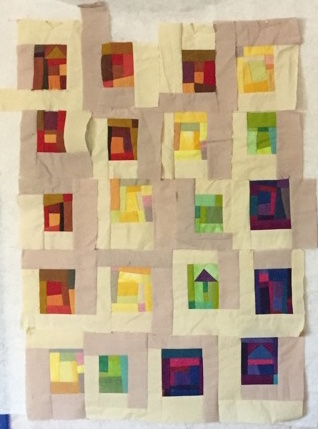 Rainbow Blocks in Process - Cindy Grisdela Art Quilts