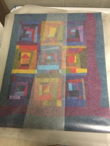 Layer Wax Paper Before Weights - Cindy Grisdela Art Quilts