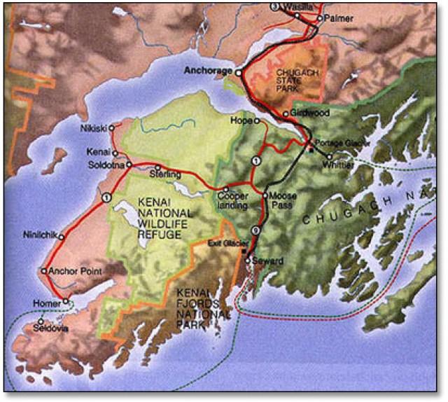 Kenai-Peninsula-Map