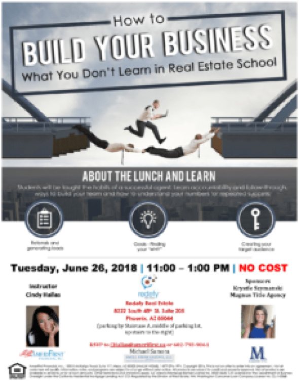 Cindy Hallas How to Build Your Business Workshop Redefy Real Estate