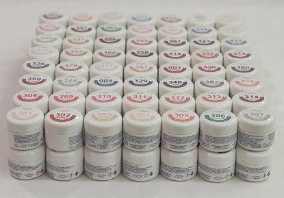 Farbgel Set, 248 Dosen/ 5g inkl. 6 Display 1