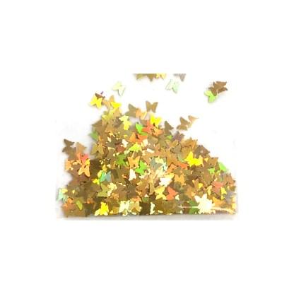 3D Hologramm Schmetterling - Gold - B23 1