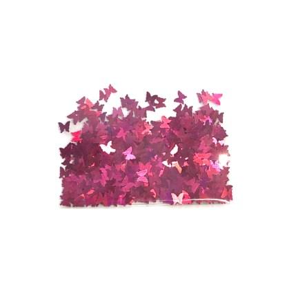 3D Hologramm Schmetterling - Hot Pink - B14 1