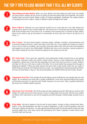 7 Things I tell all my clients 1-page printable