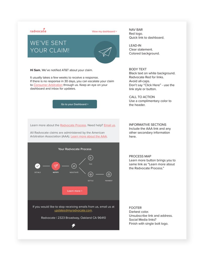 Radvocate Email Design Guidelines