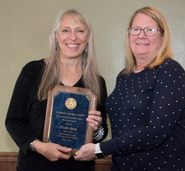 Cindry Ross getting the Celebrate Literacy Award low res cropped