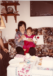 One of the first pictures on my previous blog of my grandma and I