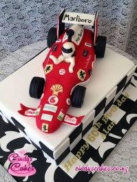 Marlboro F1 Race Car Cake