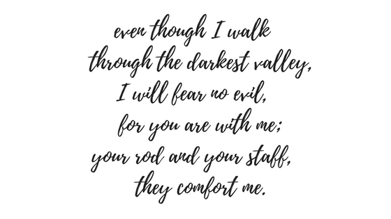 text Psalm 23, 4