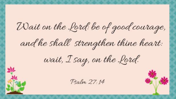 Psalm 27, 14