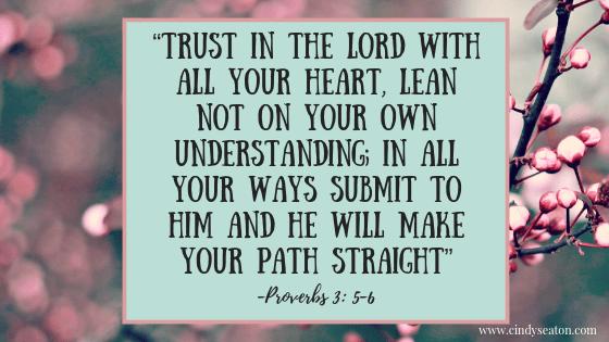 Proverbs 3:5-6. Bible verse