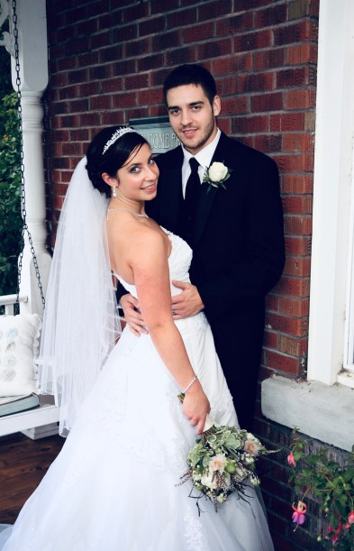 Cherie and Andrew on their wedding day.