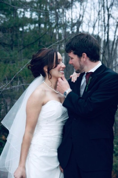 Jami and Mike on their wedding day.