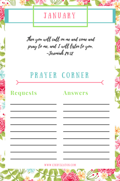 Prayer tracker photo