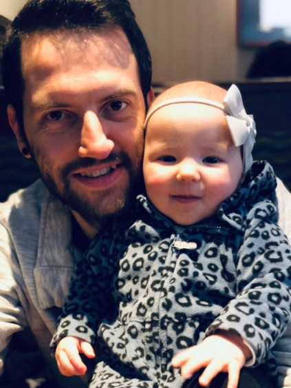 Dave and his baby daughter, Aubrey.