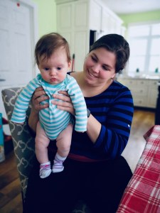Alice being help by Auntie Aryanna
