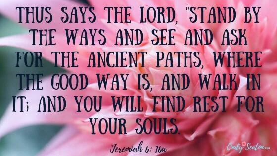 Bible verse Jeremiah 6: 16