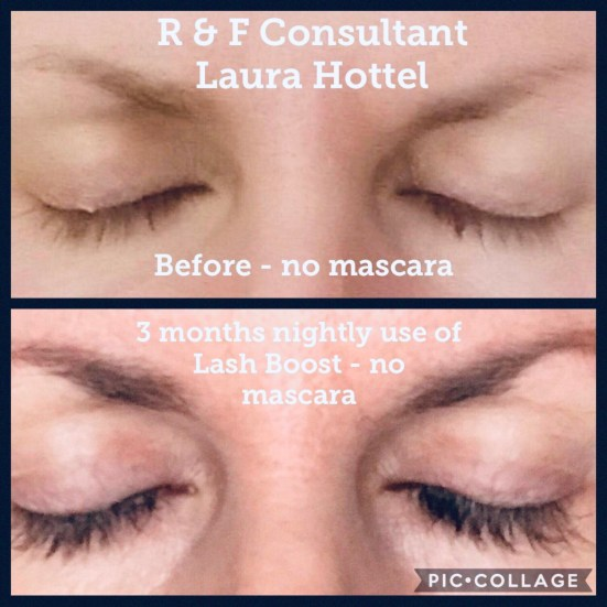laura's before and after Lash Boost pictures