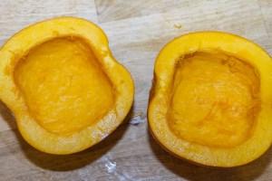 pumpkin hollowed out