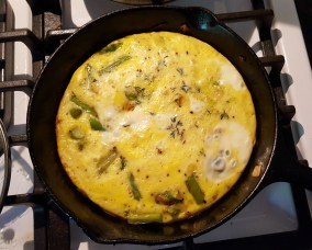 My accidental frittata.