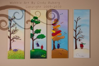 Seasons Series: Acrylic on Canvas: 8x24 inches