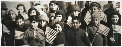 Students at Ellis Island