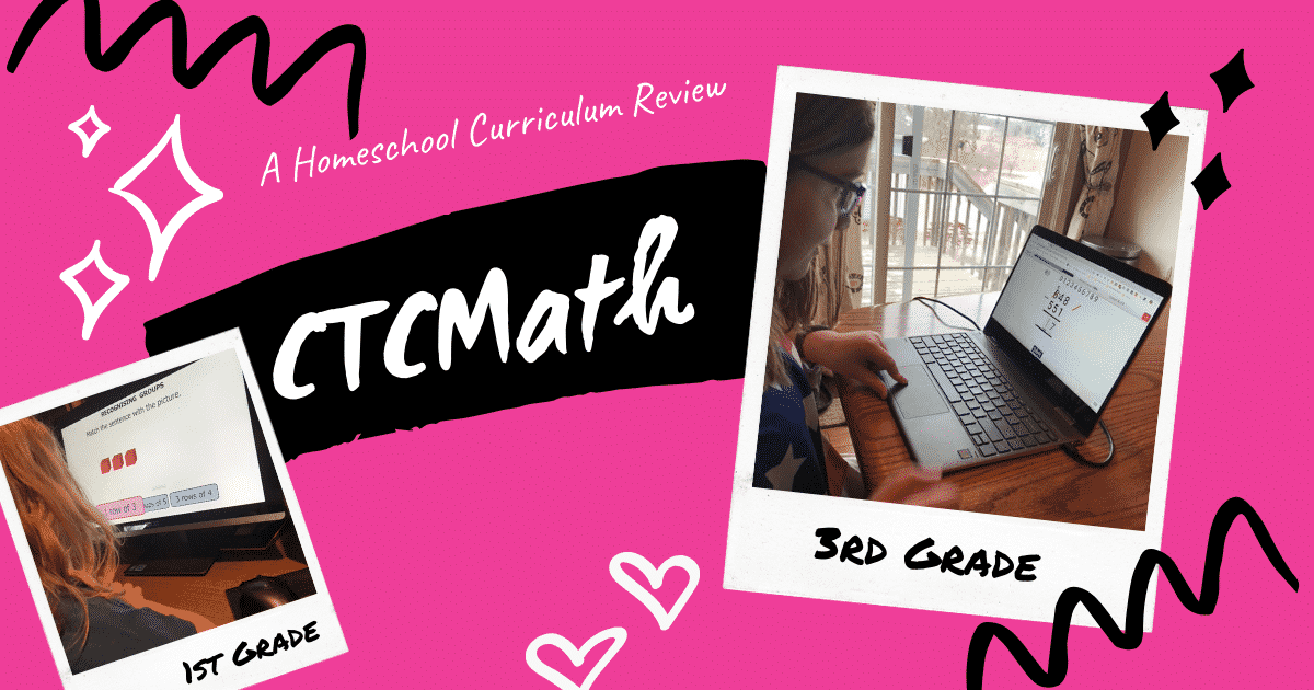 CTCMath Review with 1st & 3rd Grade Homeschoolers