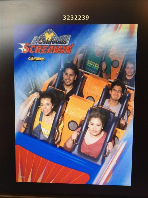 Screamin California ride at California Adventures