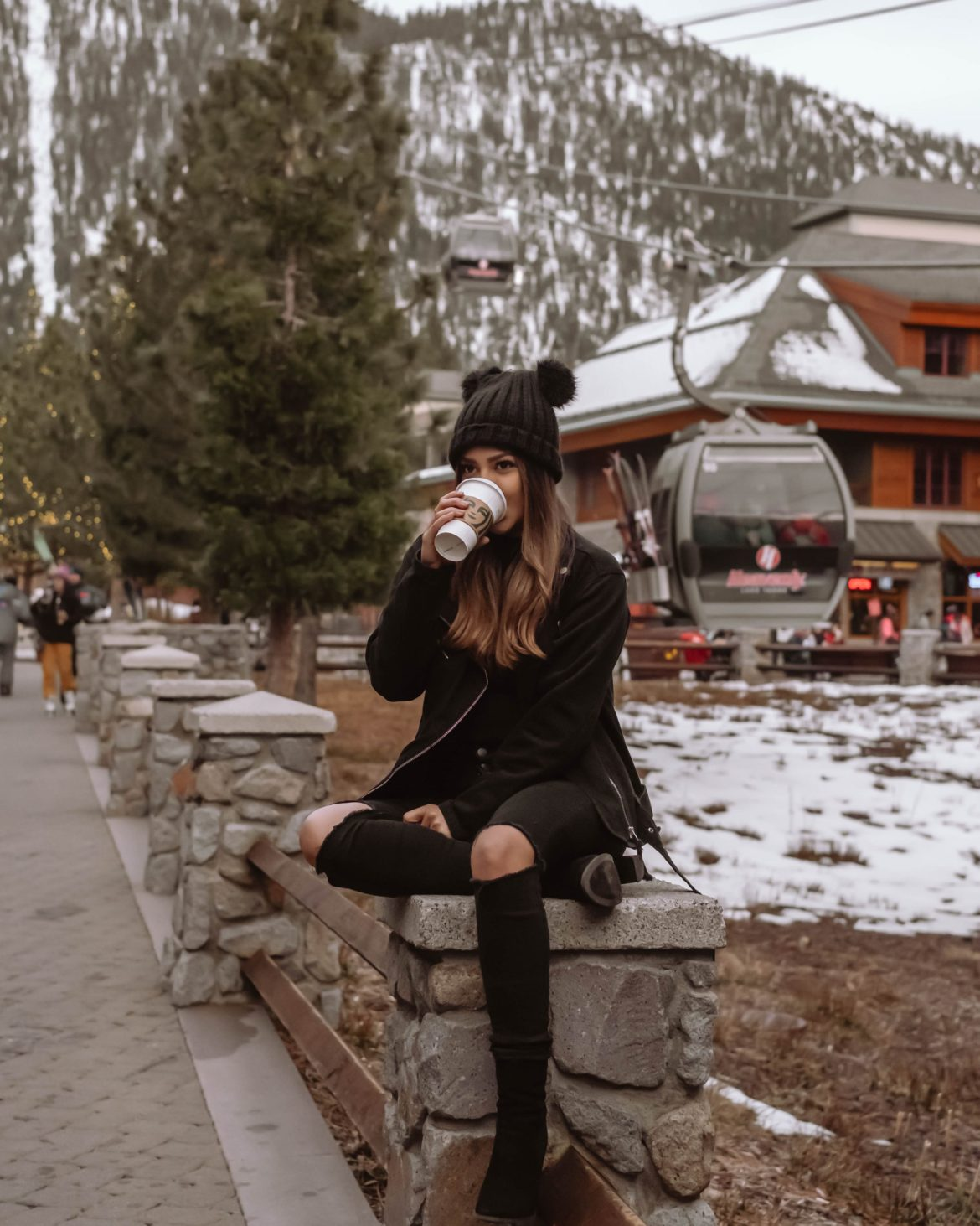 coffee break at heavenly village in South Lake Tahoe