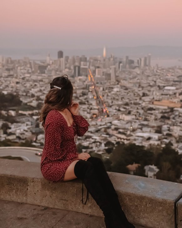 girl at Twin Peaks, San Francisco