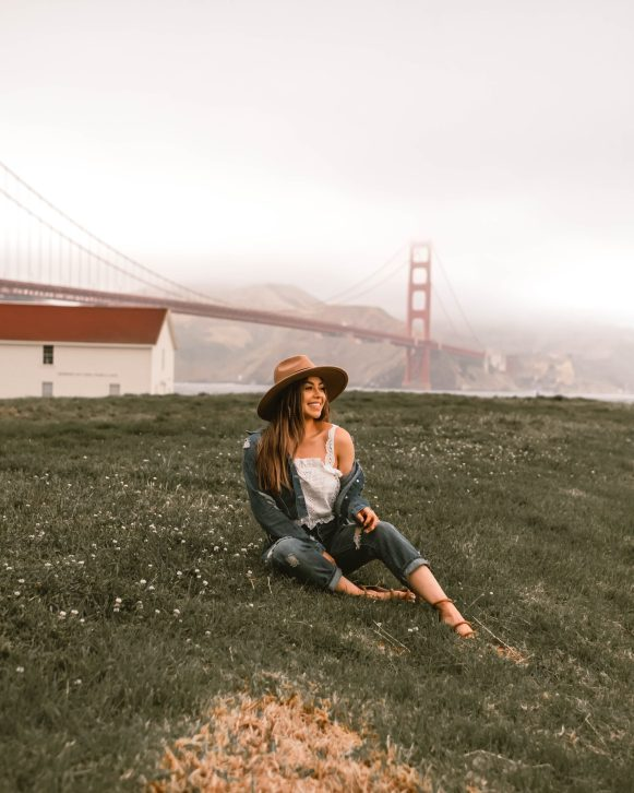 girl at Crissy field, San Francisco