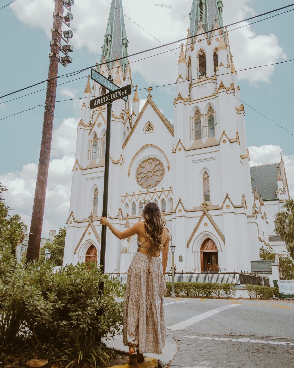 The Cathedral Basilica in Savannah, Georgia
