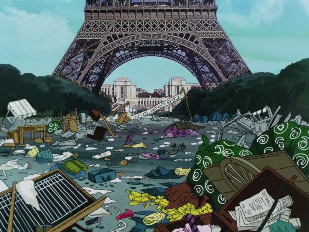 Paris fui par la population