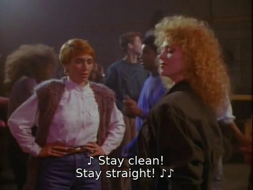 "La chanson ""Stay clean, stay straight"""