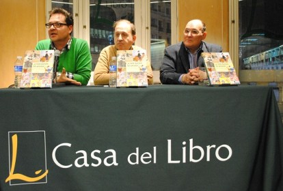 De izquierda a derecha, Paco Sáez, Cruz Delgado Sánchez y Ramiro Gómez Bermúdez de Castro