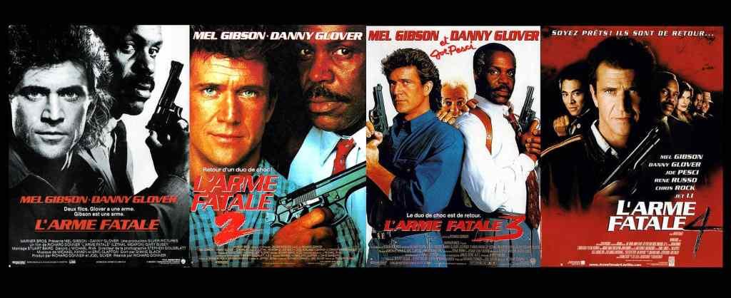 Les affiches de l'arme fatale (Lethal Weapons) avec Mel Gibson