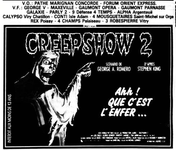 Creepshow 2, box-office