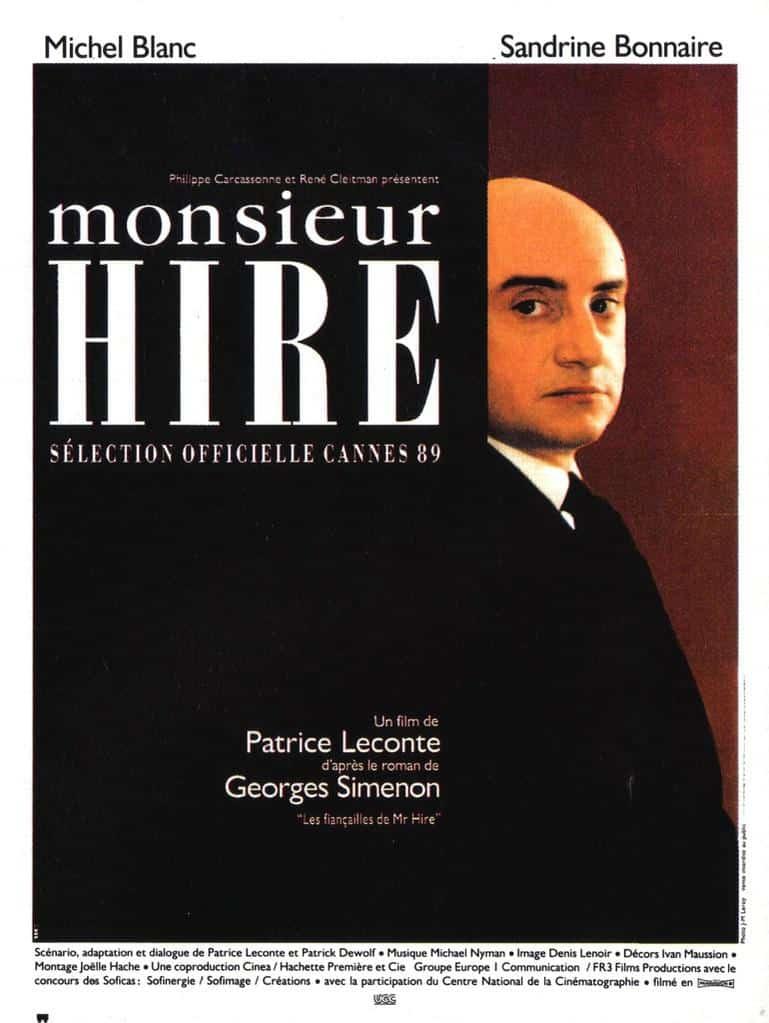 Affiche de Monsieur Hire de Patrice Leconte