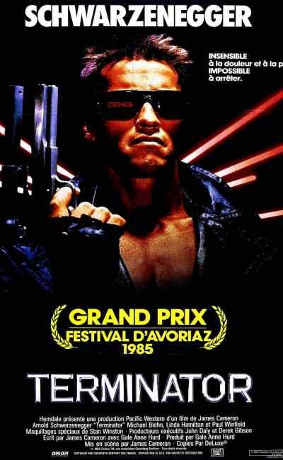 Terminator 1 affiche cinéma française en 1985