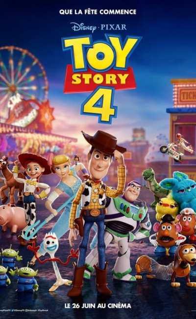 Affiche française de Toy Story 4, avec Woody dans son centre