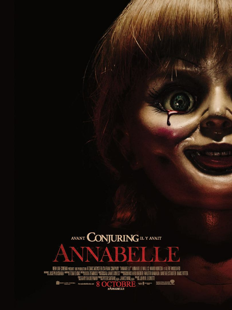 Affiche française du premier film Annabelle