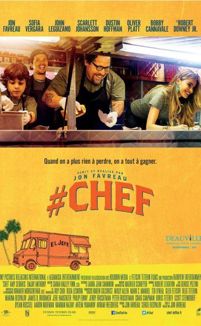 Affiche française de la comédie culinaire #Chef de Jon Favreau