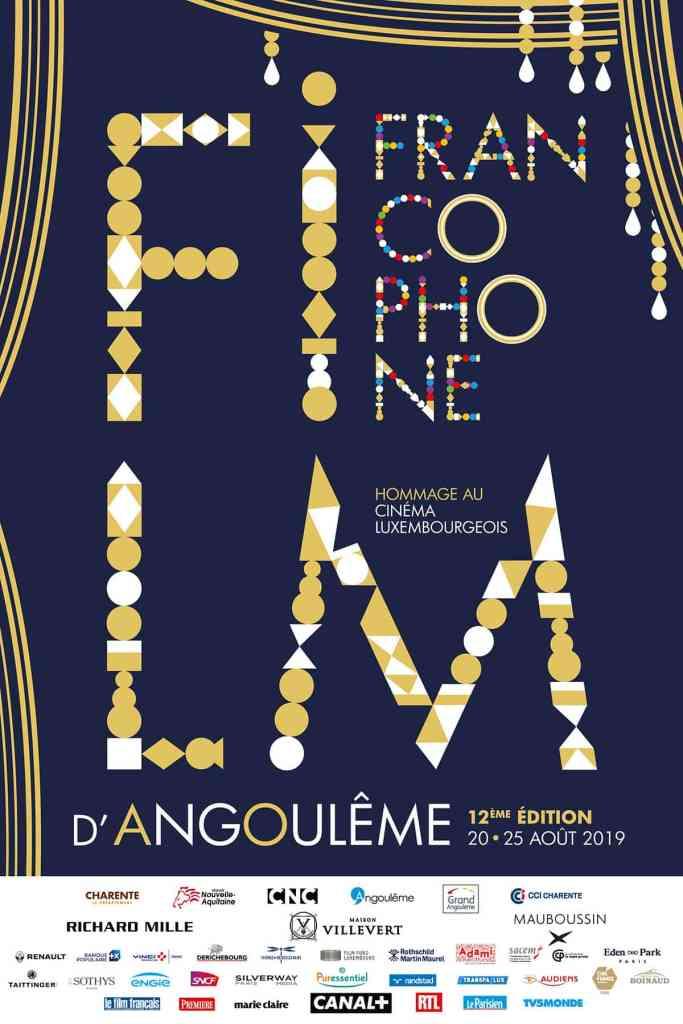 Affiche en format portrait de l'édition 2019 du Festival du Film d'Angoulême