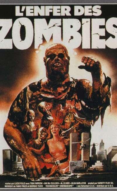 L'enfer des zombies, l'affiche française du Lucio Fulci